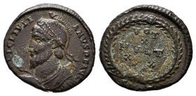 JOVIAN, 363-364 AD. AE Follis. Diademed draped bust / Votive inscription in wreath.   Condition: Very Fine  Weight:3.31gr  Diameter: 19mm From a Priva...