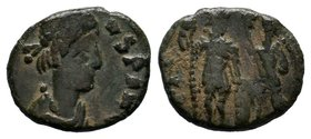 VANDALS. Pseudo-Imperial coinage. Circa 440-490. Æ. Imitating an issue of Honorius.  Condition: Very Fine  Weight:1.58gr  Diameter: 15mm From a Privat...