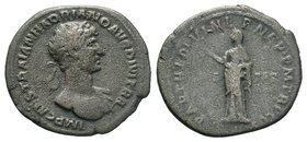 HADRIAN. 117-138 AD. AR Denarius, Pietas standing left,   Condition: Very Fine  Weight: 2.67gr Diameter: 17.57mm  From a Private Dutch Collection.
