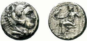KINGS of MACEDON. Alexander III 'the Great'. 336-323 BC. AR Drachm  Condition: Very Fine  Weight: 16.27 gr Diameter: 23.00 mm