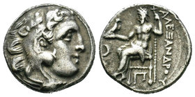 KINGS of MACEDON. Alexander III 'the Great'. 336-323 BC. AR Drachm  Condition: Very Fine  Weight: 4.21 gr Diameter: 17.22 mm
