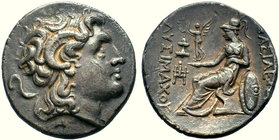 Kings of Thrace. Lysimachos.305-281 BC. AR Tetradrachm, Lampsakos mint.  Condition: Very Fine  Weight: 16.83 gr Diameter: 30.06 mm