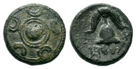KINGS of MACEDON. Philip III Arrhidaios, 323-317 BC. AE bronze  Condition: Very Fine  Weight: 3.58 gr  Diameter: 15.56 mm