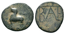 KINGS OF BOSPOROS. Polemo I. Circa 37-8 BC. AE bronze  Condition: Very Fine  Weight: 4.03 gr Diameter: 20.96 mm
