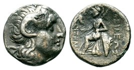 Kings of Thrace. Lysimachos.305-281 BC. AR Tetradrachm, Lampsakos mint.  Condition: Very Fine  Weight: 3.25 gr Diameter: 16.95 mm