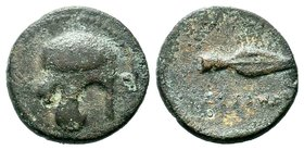 Cassander 311 – 297 BC.AE bronze  Condition: Very Fine  Weight: 3.72 gr Diameter: 18.70 mm