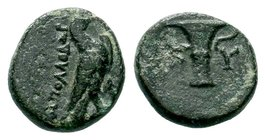 Aeolis. Kyme. 320-250 BC.AE bronze  Condition: Very Fine  Weight: 2.41 gr Diameter: 13.18 mm
