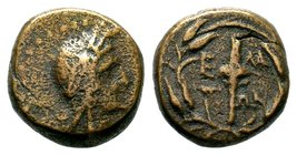 Aeolis. Elaia 400 BC.AE Bronze   Condition: Very Fine  Weight: 4.11 gr Diameter: 14.70 mm