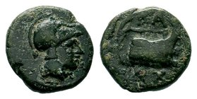 Aeolis. Elaia 400 BC.AE Bronze   Condition: Very Fine  Weight: 1.56 gr Diameter: 12.91 mm