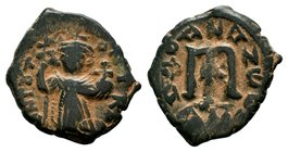ARAB-BYZANTINE: Three Standing Figures, ca. 640s, AE fals  Condition: Very Fine  Weight: 4.10 gr Diameter:23 mm