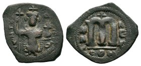 ARAB-BYZANTINE: Three Standing Figures, ca. 640s, AE fals  Condition: Very Fine  Weight: 3.27 gr Diameter: 25 mm