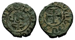 Cilician Ancient Armenia. King Hetoum I, 1226-1270 AD. Copper kardez.  Condition: Very Fine  Weight: 3.18 gr Diameter: 21 mm