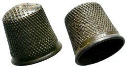 Byzantine Bronze Thimble  Condition: Very Fine  Weight: 5.14 gr Diameter: 18.14 mm