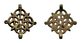Medieval Bronze Fitting  Condition: Very Fine  Weight: 11.38 gr Diameter: 43.87 mm