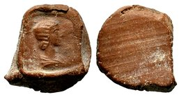 Ancient Terracotta Bulla  Condition: Very Fine  Weight: 2.05 gr Diameter: 20.17 mm