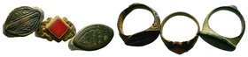 3x Ancient Rings  Condition: Very Fine  Weight: LOT Diameter:
