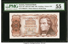 Austria Austrian National Bank 500 Schilling 1965 (ND 1966) Pick 139 PMG About Uncirculated 55.   HID09801242017