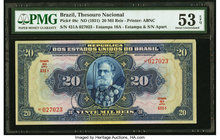 Brazil Thesouro Nacional 20 Mil Reis ND (1931) Pick 48c PMG About Uncirculated 53 EPQ.   HID09801242017