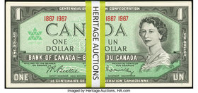 Canada Bank of Canada $1 1967 BC-45a Commemorative Sixty-One Examples Crisp Uncirculated.   HID09801242017
