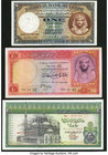Egypt National Bank of Egypt 1 Pound 9.6.1948 Pick 22d; 10 Pounds 1960 Pick 32; Central Bank of Egypt 20 Pounds 1976 Pick 48 Very Fine or Better. The ...