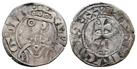 The Crown of Aragon. Jaime I (1213-1276). Dinero. (Cru-319). Anv.: ARA-GON. Busto coronado a izquierda. Rev.: :IACOBVS REX. Cruz patriarcal. Ve. 0,90 ...