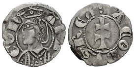 The Crown of Aragon. Jaime II (1291-1327). Dinero. (Cru-318). Anv.: ARA-GON. Busto coronado a izquierda. Rev.: :IACOBVS REX. Cruz patriarcal. Ve. 0,99...
