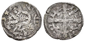 Kingdom of Castille and Leon. Alfonso IX (1188-1230). Dinero. (Bautista-223). Ve. 0,92 g. Marca de ceca estrella. Almost VF/Choice F. Est...40,00.