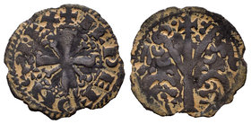 Kingdom of Castille and Leon. Alfonso IX (1188-1230). Dinero. (Bautista-244). Ve. 0,53 g. Marca de ceca puntos. Almost VF. Est...40,00.