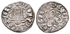 Kingdom of Castille and Leon. Alfonso X (1252-1284). Novén. Coruña. (Bautista-395). Ve. 0,77 g. Venera antigua bajo castillo. Choice VF. Est...30,00....