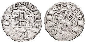 Kingdom of Castille and Leon. Alfonso X (1252-1284). Novén. Coruña. (Bautista-395.1). Ve. 0,76 g. Venera moderna bajo castillo. Choice VF. Est...25,00...