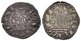 Kingdom of Castille and Leon. Alfonso XI (1312-1350). Novén. Coruña. (Bautista-479.3). Ve. 0,79 g. Venera bajo el castillo. Almost VF. Est...18,00.