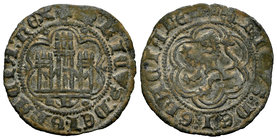 Kingdom of Castille and Leon. Enrique III (1390-1406). Blanca. Burgos. (Bautista-771). Ve. 1,87 g. Con B bajo el castillo. Choice VF. Est...40,00.
