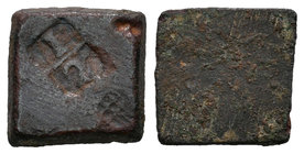 The Crown of Aragon. Ponderal de 1/2 real. Ln. 1,58 g. 11 x 11 mm. Almost VF. Est...20,00.