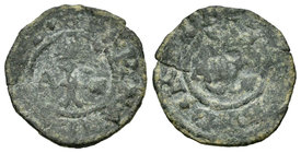 Catholic Kings (1474-1504). Blanca. Coruña. A. (Rs-255). Anv.: A y venera. Rev.: A y venera. Fina grieta. Almost VF. Est...40,00.