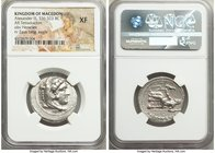 MACEDONIAN KINGDOM. Alexander III the Great (336-323 BC). AR tetradrachm (27mm, 3h). NGC XF. Lifetime issue of Tarsus, ca. 327-323 BC. Head of Heracle...