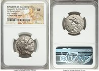 MACEDONIAN KINGDOM. Alexander III the Great (336-323 BC). AR tetradrachm (26mm, 4h). NGC XF. Lifetime issue of Amphipolis, ca. 336-323 BC. Head of Her...