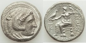 MACEDONIAN KINGDOM. Alexander III the Great (336-323 BC). AR tetradrachm (25mm, 16.50 gm, 12h). Choice VF, porosity. Late lifetime to early posthumous...