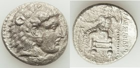 MACEDONIAN KINGDOM. Alexander III the Great (336-323 BC). AR tetradrachm (25mm, 16.21 gm, 12h). XF, porosity. Late lifetime to early posthumous issue ...