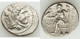 MACEDONIAN KINGDOM. Alexander III the Great (336-323 BC). AR tetradrachm (28mm, 16.14 gm, 7h). VF, porosity. Lifetime or early posthumous issue of Tyr...