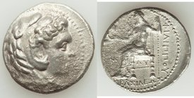 MACEDONIAN KINGDOM. Philip III Arrhidaeus (323-317 BC). AR tetradrachm (26mm, 16.73 gm, 9h). Choice VF, porosity. Babylon. Head of Heracles right, wea...