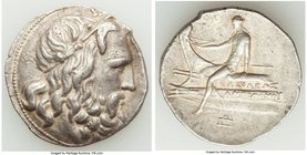 MACEDONIAN KINGDOM. Antigonus III Doson (229-221 BC). AR tetradrachm (31mm, 17.01 gm, 11h). VF. Amphipolis, ca. 227-225 BC. Head of Poseidon right, we...