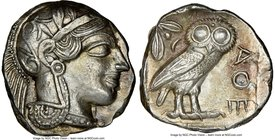 ATTICA. Athens. Ca. 440-404 BC. AR tetradrachm (24mm, 17.17 gm, 9h). NGC Choice AU 4/5 - 3/5, brushed. Mid-mass coinage issue. Head of Athena right, w...