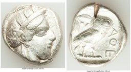 ATTICA. Athens. Ca. 440-404 BC. AR tetradrachm (25mm, 17.17 gm, 7h). Fine, test cut. Mid-mass coinage issue. Head of Athena right, wearing crested Att...