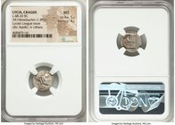 LYCIAN LEAGUE. Cragus. Ca. 48-20 BC. AR hemidrachm (15mm, 1.89 gm, 12h). NGC MS 5/5 – 4/5. Series 2. Laureate head of Apollo right, wearing wreath and...