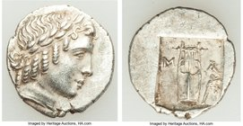 LYCIAN LEAGUE. Masicytes. Ca. 48-20 BC. AR hemidrachm (15mm, 1.93 gm, 1h). Choice XF. Series 2. Laureate head of Apollo right, wearing taenia; Λ-Y bel...