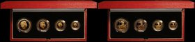 Britannia Gold Proof Set 1998 the 4-coin set comprising £100 One Ounce, £50 Half Ounce, £25 Quarter Ounce and £10 One Tenth Ou...
