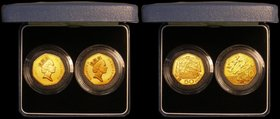 Fifty Pences a 2-coin set 1992/1993 EU Presidency Gold Proof nFDC lightly toning, and 1994 D-Day Landings Gold Proof, nFDC with a hint of toning, in t...