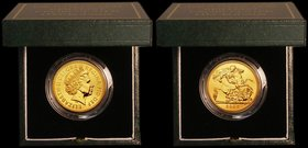 Five Pounds Gold 2007 S.SE7 BU and fully lustrous in the Royal Mint green box of issue with certificate. Only 768 issued