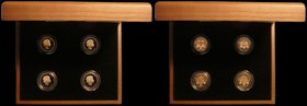 One Pound 2010-2011 Gold Proofs a 4-coin set comprising 2010 London S.J28, 2010 Belfast S.J29, 2011 Edinburgh S.J30, and 2011 Cardiff S.J31 nFDC-FDC t...
