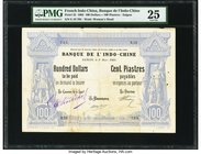 French Indochina Banque de l'Indo-Chine, Saigon 100 Dollars = 100 Piastres 9.3.1903 Pick 32 PMG Very Fine 25. At the time of cataloging, this is the o...